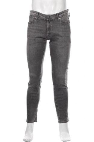 Мъжки дънки Jack & Jones, Размер L, Цвят Сив, 85% памук, 13% полиестер, 2% еластан, Цена 51,00лв.