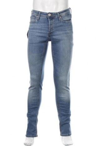 Мъжки дънки Jack & Jones, Размер M, Цвят Син, 70% памук, 28% полиестер, 2% еластан, Цена 66,75лв.