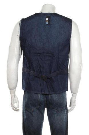 Мъжки елек Desigual, Размер M, Цвят Син, 80% памук, 20% вискоза, Цена 65,36лв.