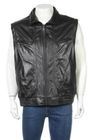 Мъжки елек Prince, Размер XL, Цвят Черен, Естествена кожа, Цена 14,49лв.