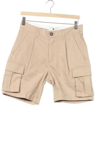 Мъжки къс панталон Anerkjendt, Размер XS, Цвят Бежов, 57% памук, 43% полиестер, Цена 63,22лв.