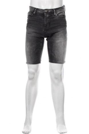 Мъжки къс панталон Fsbn, Размер S, Цвят Сив, 91% памук, 7% полиестер, 2% еластан, Цена 26,00лв.