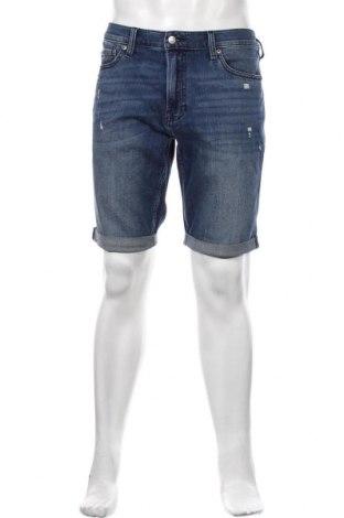 Мъжки къс панталон Hollister, Размер M, Цвят Син, 91% памук, 7% полиестер, 2% еластан, Цена 59,00лв.