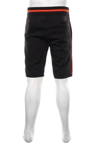 Мъжки къс панталон Napapijri, Размер L, Цвят Черен, 92% полиестер, 7% полиамид, 1% еластан, Цена 42,56лв.