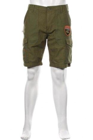 Ανδρικό κοντό παντελόνι Napapijri, Μέγεθος M, Χρώμα Πράσινο, Βαμβάκι, Τιμή 49,87€