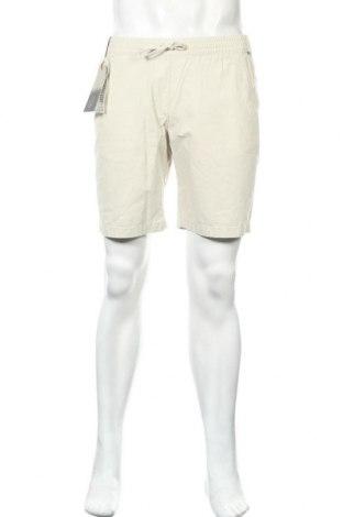 Мъжки къс панталон Napapijri, Размер S, Цвят Бежов, Памук, Цена 65,45лв.