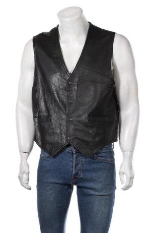 Мъжки кожен елек, Размер XL, Цвят Черен, Естествена кожа, Цена 25,94лв.