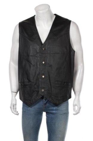 Мъжки кожен елек Casual Clothes Company, Размер L, Цвят Черен, Естествена кожа, Цена 13,23лв.