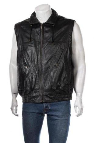 Мъжки кожен елек Prince, Размер XL, Цвят Черен, Естествена кожа, Цена 13,97лв.