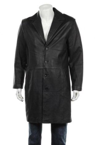 Мъжки кожен шлифер Angelo Litrico, Размер M, Цвят Черен, Естествена кожа, Цена 57,33лв.