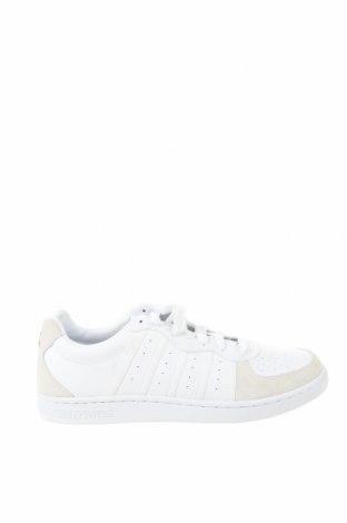 Мъжки обувки K.Swiss, Размер 49, Цвят Бял, Еко кожа, естествен велур, текстил, Цена 54,50лв.