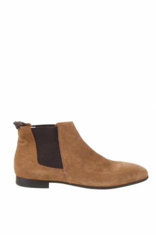 Мъжки обувки Zara, Размер 45, Цвят Бежов, Естествен велур, Цена 29,80лв.