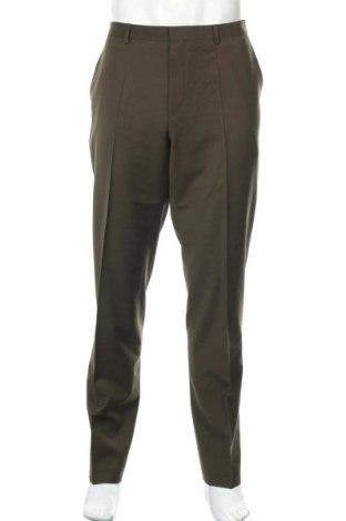 Мъжки панталон Hugo Boss, Размер XL, Цвят Зелен, 74% вълна, 22% полиестер, 4% еластан, Цена 111,65лв.