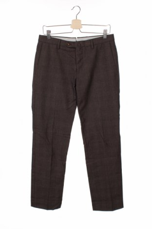 Мъжки панталон Incotex, Размер M, Цвят Кафяв, 51% вълна, 49% памук, Цена 12,96лв.