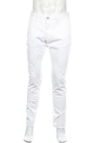 Pánské kalhoty  Massimo Dutti, Velikost M, Barva Bílá, 98% bavlna, 2% elastan, Cena  458,00Kč
