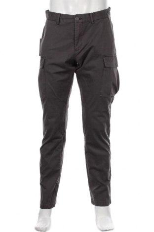 Pantaloni de bărbați Napapijri, Mărime M, Culoare Gri, 98% bumbac, 2% elastan, Preț 414,31 Lei