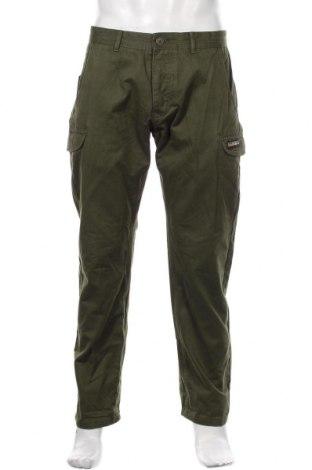 Мъжки панталон Napapijri, Размер M, Цвят Зелен, Памук, Цена 171,75лв.