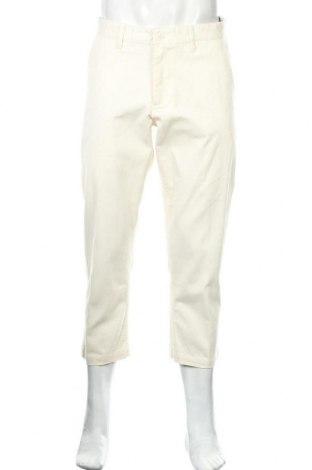 Pantaloni de bărbați Obey, Mărime M, Culoare Ecru, 60% bumbac, 39% poliester, 1% elastan, Preț 90,79 Lei
