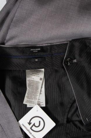 Мъжки панталон Premium By Jack & Jones, Размер XL, Цвят Сив, 74% полиестер, 23% вискоза, 3% еластан, Цена 27,72лв.