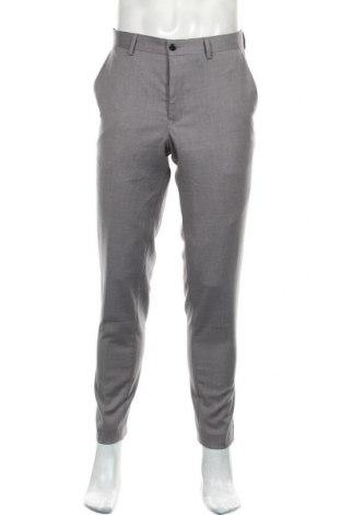 Мъжки панталон Premium By Jack & Jones, Размер L, Цвят Сив, 74% полиестер, 23% вискоза, 3% еластан, Цена 27,72лв.