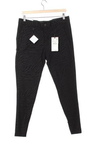 Мъжки панталон Zara, Размер M, Цвят Черен, 88% полиамид, 12% еластан, Цена 44,25лв.