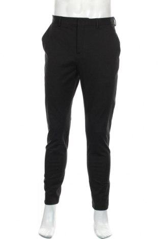 Мъжки панталон Zara, Размер M, Цвят Черен, 93% памук, 7% еластан, Цена 23,52лв.