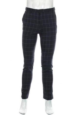 Мъжки панталон Zara Man, Размер M, Цвят Син, 96% полиестер, 2% вискоза, 2% еластан, Цена 27,00лв.