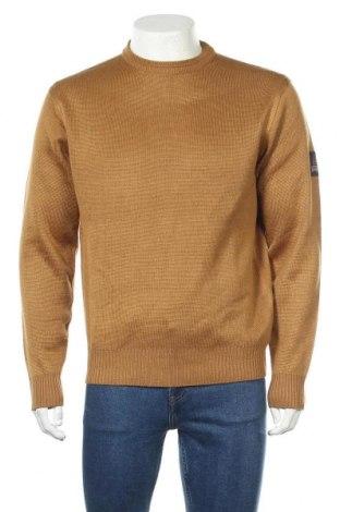 Ανδρικό πουλόβερ, Μέγεθος L, Χρώμα  Μπέζ, 50% μαλλί, 50%ακρυλικό, Τιμή 25,33€