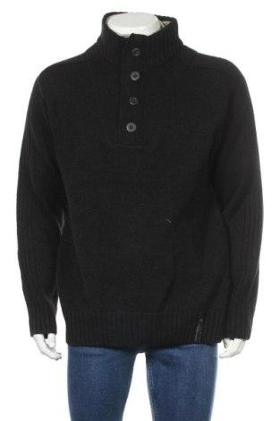 Мъжки пуловер Angelo Litrico, Размер XL, Цвят Черен, 84% акрил, 16% вълна, Цена 21,84лв.