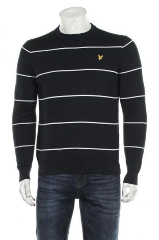 Ανδρικό πουλόβερ Lyle & Scott, Μέγεθος M, Χρώμα Μπλέ, Βαμβάκι, Τιμή 39,33€