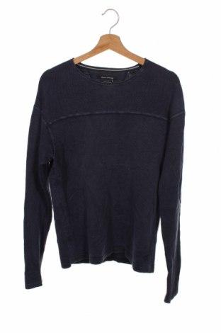 Ανδρικό πουλόβερ Marc O'Polo, Μέγεθος S, Χρώμα Μπλέ, 70% βαμβάκι, 30% λινό, Τιμή 31,18€