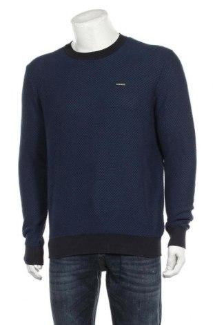 Ανδρικό πουλόβερ Napapijri, Μέγεθος L, Χρώμα Μπλέ, Βαμβάκι, Τιμή 65,33€