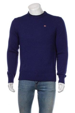 Ανδρικό πουλόβερ Napapijri, Μέγεθος L, Χρώμα Μπλέ, 65% μαλλί, 35% πολυαμίδη, Τιμή 76,94€