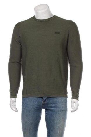 Ανδρικό πουλόβερ Napapijri, Μέγεθος L, Χρώμα Πράσινο, Βαμβάκι, Τιμή 65,33€