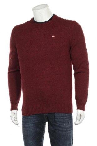 Ανδρικό πουλόβερ Napapijri, Μέγεθος L, Χρώμα Κόκκινο, 65% μαλλί, 35% πολυαμίδη, Τιμή 102,58€