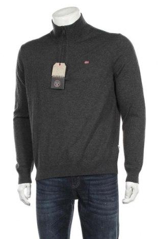 Мъжки пуловер Napapijri, Размер L, Цвят Сив, Вълна, Цена 167,17лв.