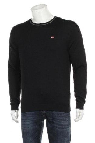 Ανδρικό πουλόβερ Napapijri, Μέγεθος L, Χρώμα Μαύρο, Βαμβάκι, Τιμή 65,33€