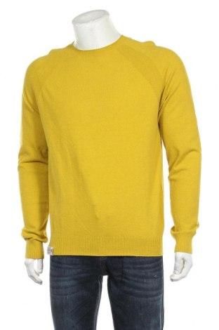 Ανδρικό πουλόβερ Napapijri, Μέγεθος L, Χρώμα Κίτρινο, 78% βαμβάκι, 22% πολυαμίδη, Τιμή 53,74€