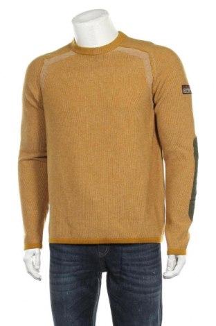 Ανδρικό πουλόβερ Napapijri, Μέγεθος L, Χρώμα Κίτρινο, Μαλλί, Τιμή 88,53€