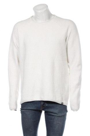Мъжки пуловер Originals By Jack & Jones, Размер XXL, Цвят Бял, Памук, Цена 30,24лв.