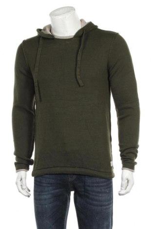 Мъжки пуловер Originals By Jack & Jones, Размер M, Цвят Зелен, Памук, Цена 31,19лв.
