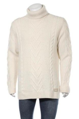 Ανδρικό πουλόβερ S.Oliver, Μέγεθος XL, Χρώμα Εκρού, 50% μαλλί, 50% πολυαμίδη, Τιμή 22,08€