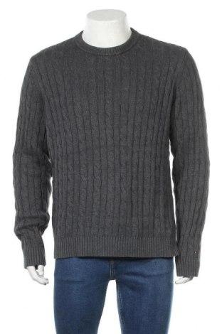 Pánský svetr  Tommy Hilfiger, Velikost L, Barva Šedá, 92% bavlna, 8% kašmír , Cena  781,00Kč