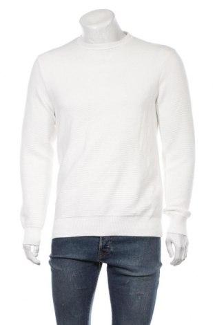 Ανδρικό πουλόβερ Zara, Μέγεθος M, Χρώμα Λευκό, 84% βαμβάκι, 16% πολυαμίδη, Τιμή 22,81€