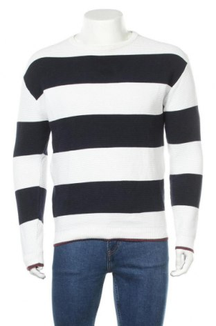 Мъжки пуловер Zara Man, Размер L, Цвят Син, 84% памук, 16% полиамид, Цена 28,50лв.