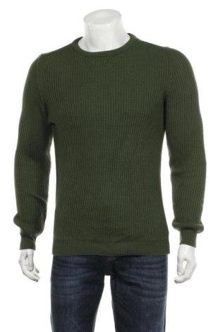 Мъжки пуловер Zara Man, Размер M, Цвят Зелен, Цена 36,75лв.