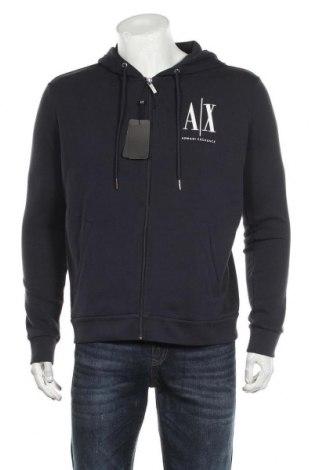 Ανδρικό φούτερ Armani Exchange, Μέγεθος L, Χρώμα Μπλέ, 95% βαμβάκι, 5% ελαστάνη, Τιμή 69,20€