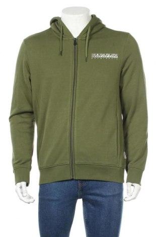 Мъжки суичър Napapijri, Размер L, Цвят Зелен, 90% памук, 10% полиестер, Цена 90,89лв.