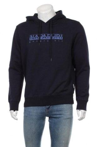 Мъжки суичър Napapijri, Размер L, Цвят Син, 90% памук, 10% полиестер, Цена 82,81лв.