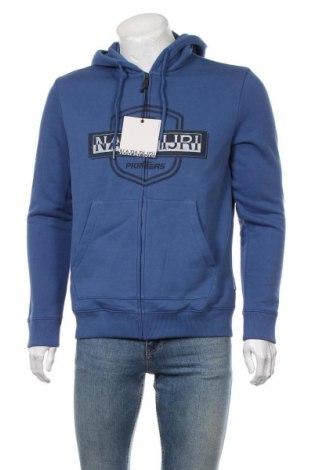 Мъжки суичър Napapijri, Размер L, Цвят Син, 90% памук, 10% полиестер, Цена 103,09лв.